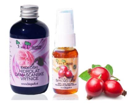 Šipkovo olje in hidrolat vrtnice